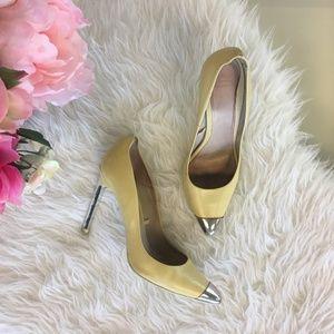 Zara Yellow Cap Toe Court Shoe